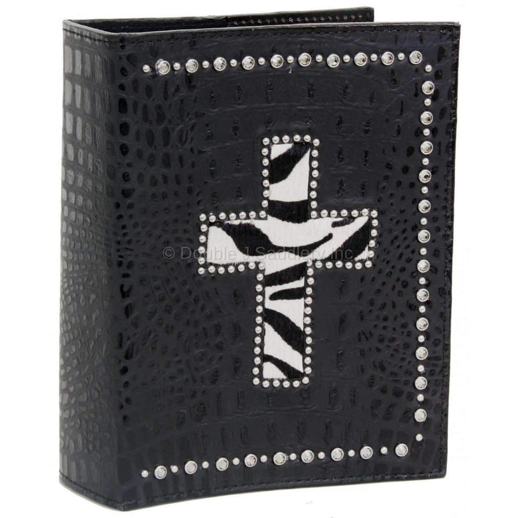 Bible07 - Black Gator Cross Bible Cover Accessories