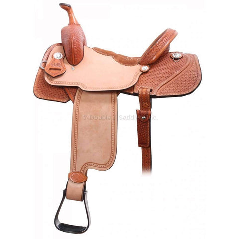 1/2 star tooled with rough out Lynn McKenzie Saddle