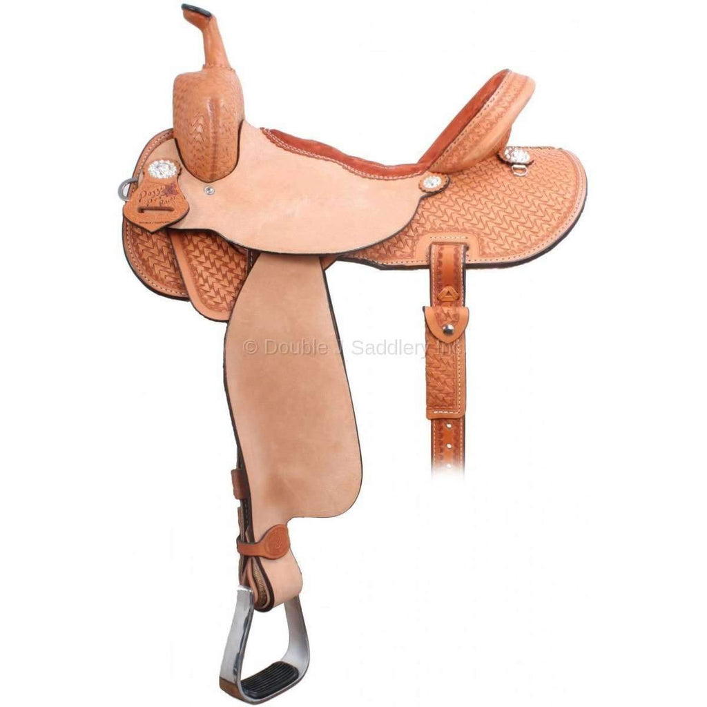 1/2 Tooled Brittany Pozzi Barrel Racer Saddle