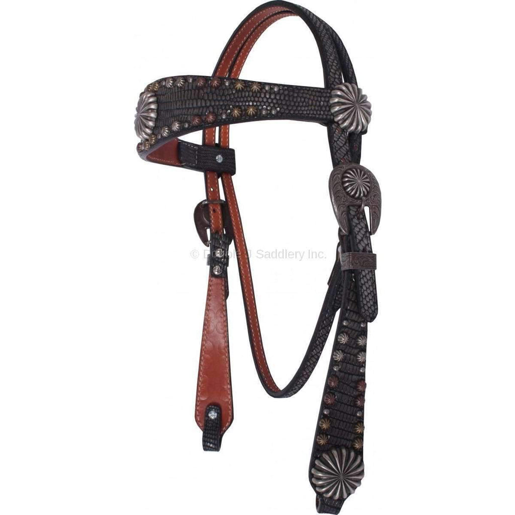 Iguana Black Leather Headstall