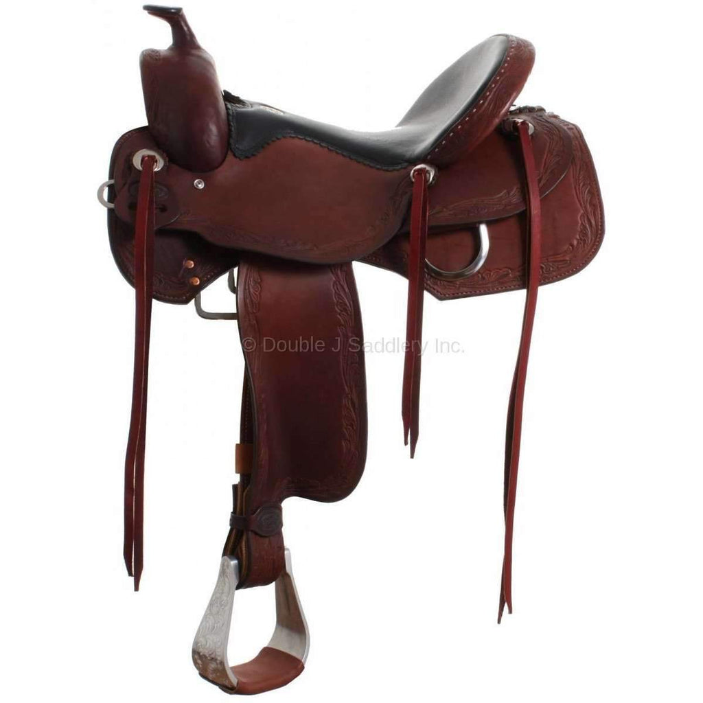 Brown Grain Out Double J Trail Saddle