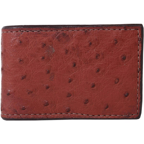 Mc38 - Genuine Almond Ostrich Money Clip Wallet