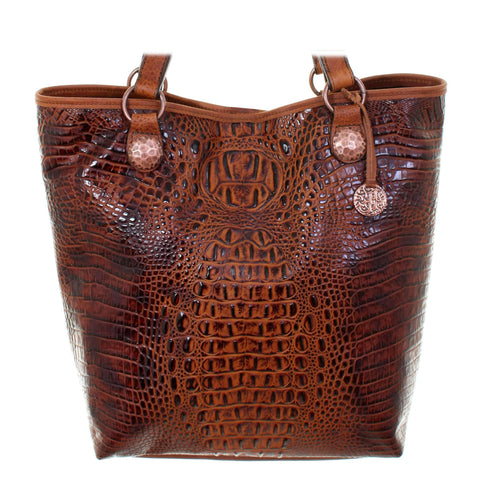 MST29 - Autumn Crocodile Print Messenger Tote