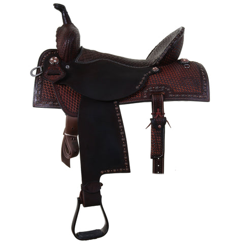 Sprf00 - 75328 Double J Pro Flex Barrel Racer Saddle