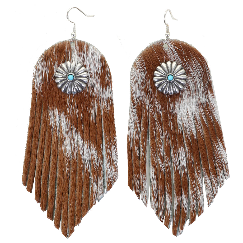 VE71 -  Vestige Roan Cowhide Leather Earrings