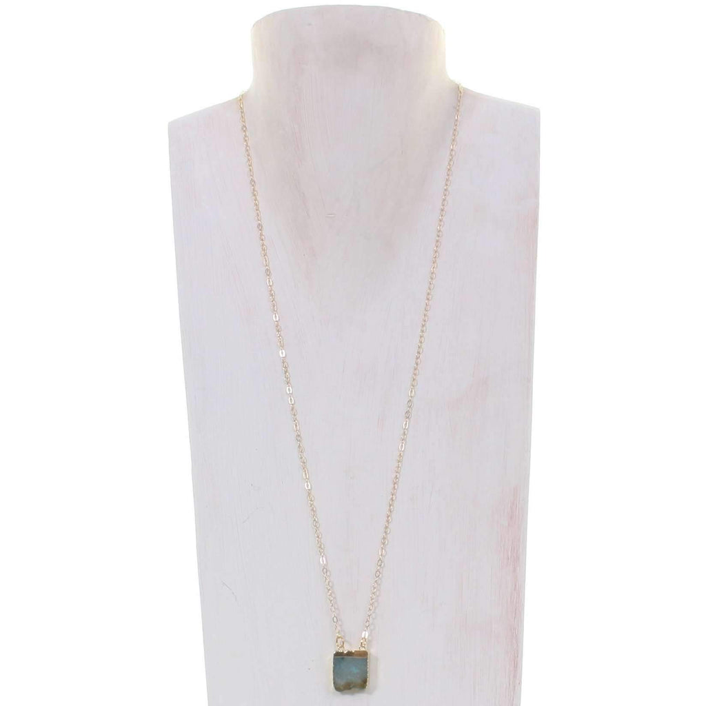 VN38 - Vestige Amazonite Square Necklace
