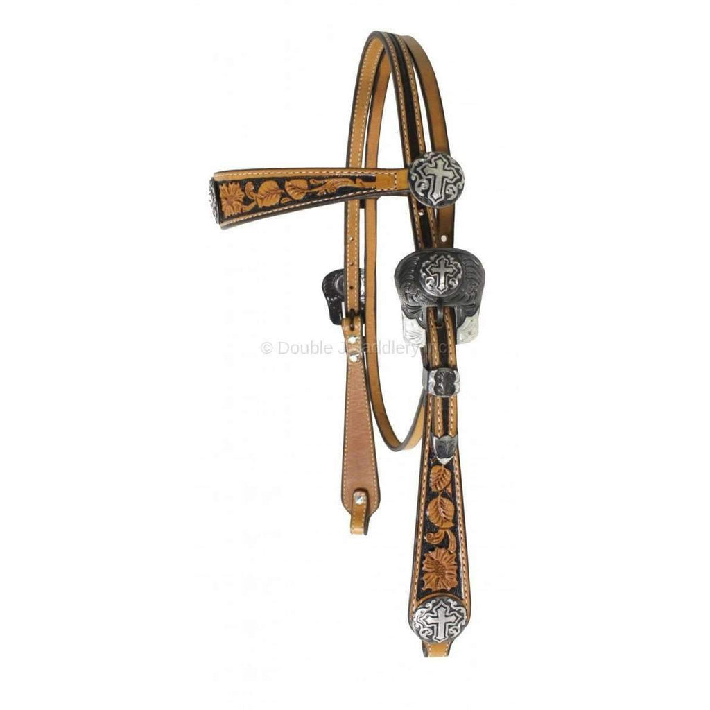 H145 - Hand-Tooled Headstall - Double J Saddlery