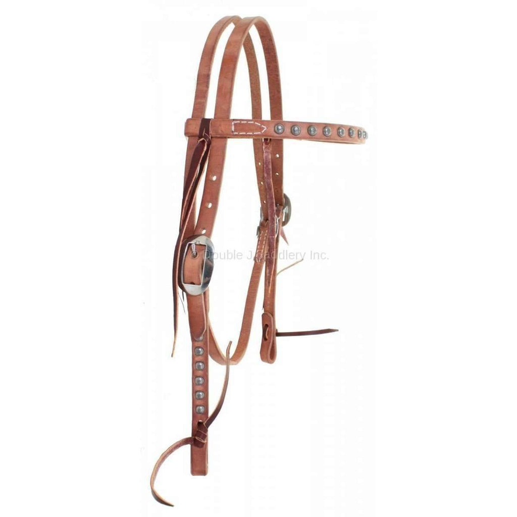H222D - Harness Leather Headstall - Double J Saddlery