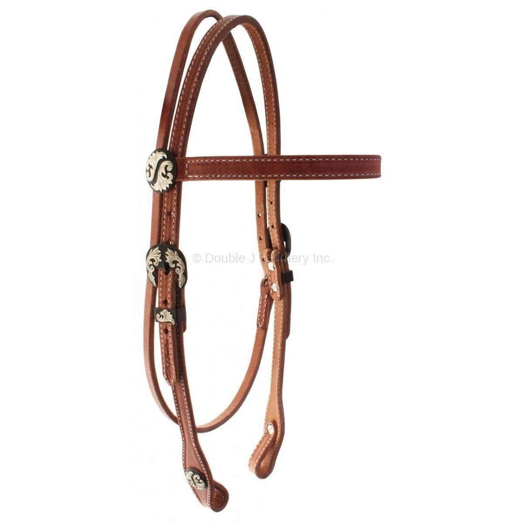 H701 - Harness Leather Headstall - Double J Saddlery