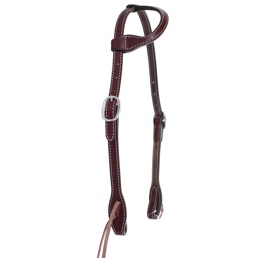H797 - Brown Leather Single Ear Headstall - Double J Saddlery