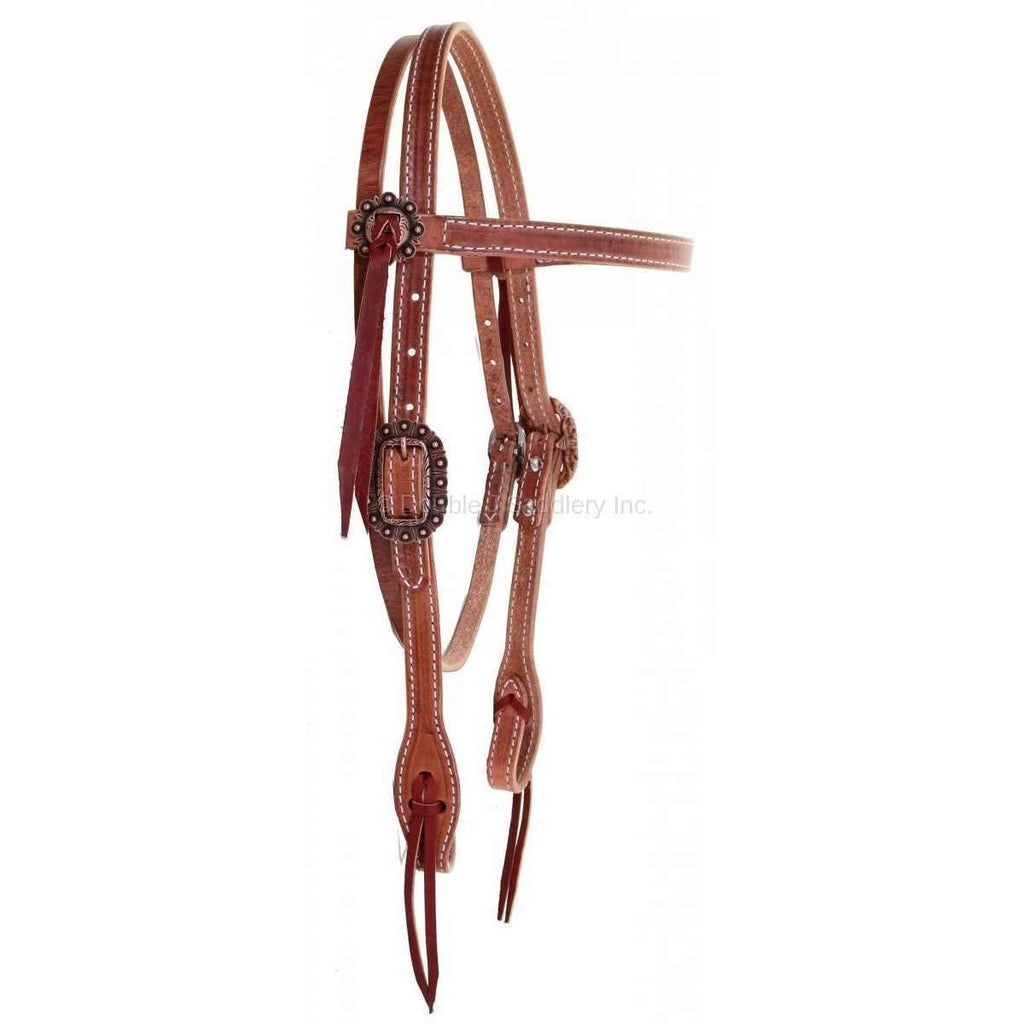 H955A - Harness Leather Headstall - Double J Saddlery