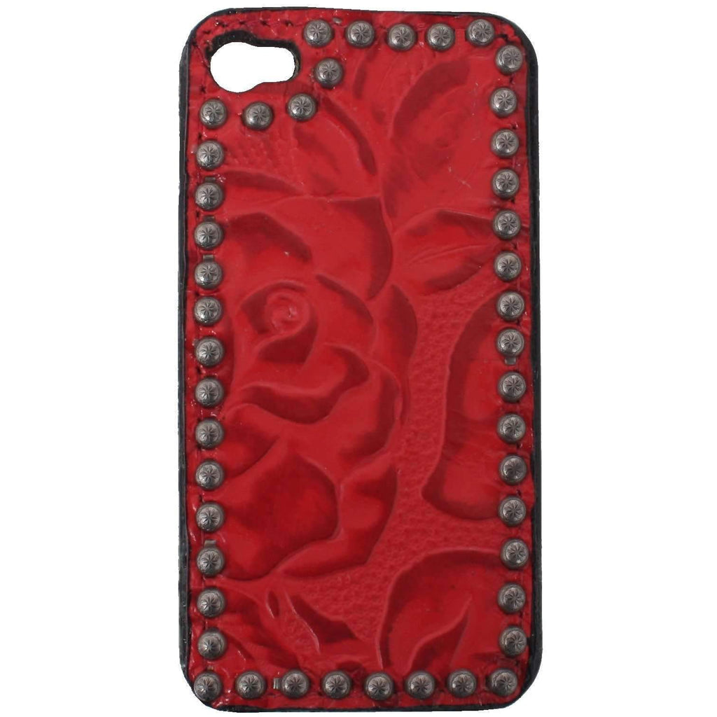HPC03 - Red Floral iPhone Case - Double J Saddlery
