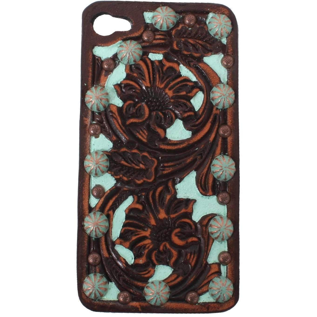 HPC05 - Floral Tooled Vintage iPhone Case - Double J Saddlery