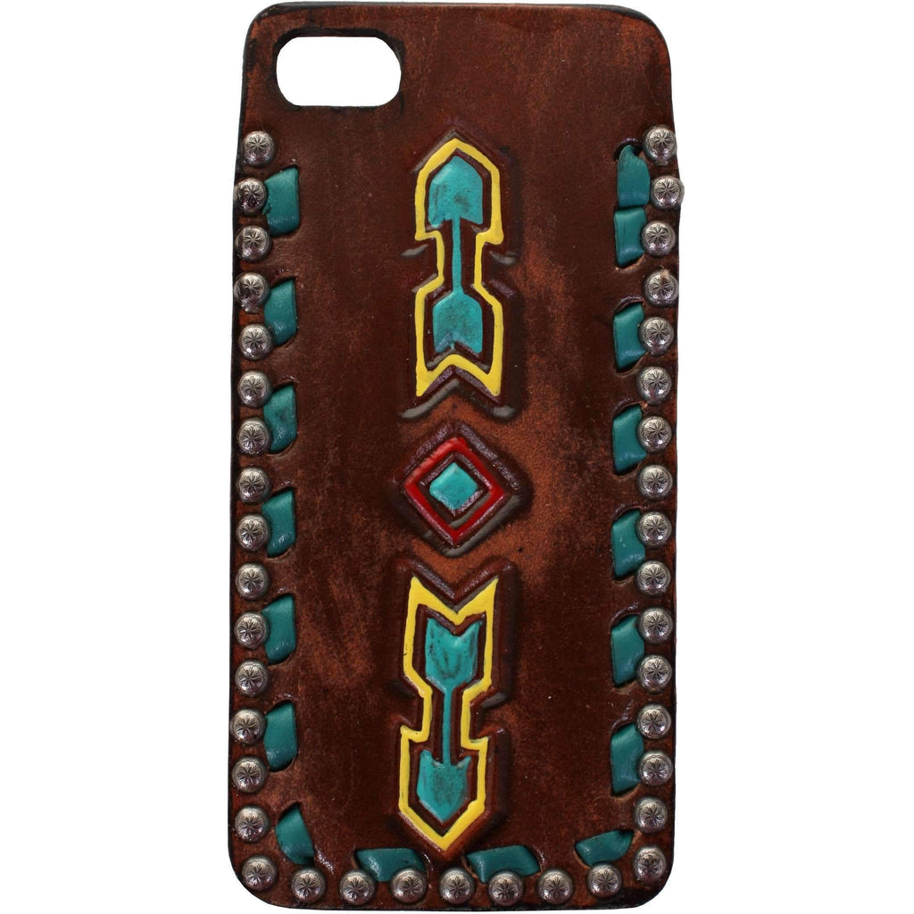HPC53C - Brown Vintage Arrows Design iPhone Case - Double J Saddlery