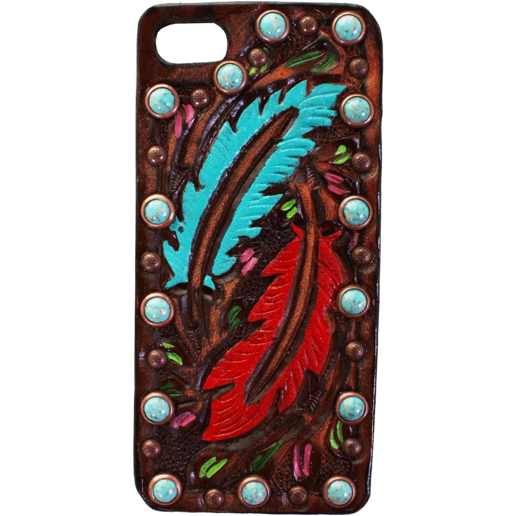 HPC54 - Brown Vintage iPhone Case - Double J Saddlery