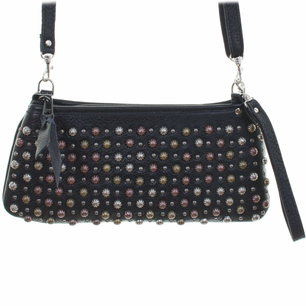 LC53 - Black Chap Studded Little Clutch - Double J Saddlery