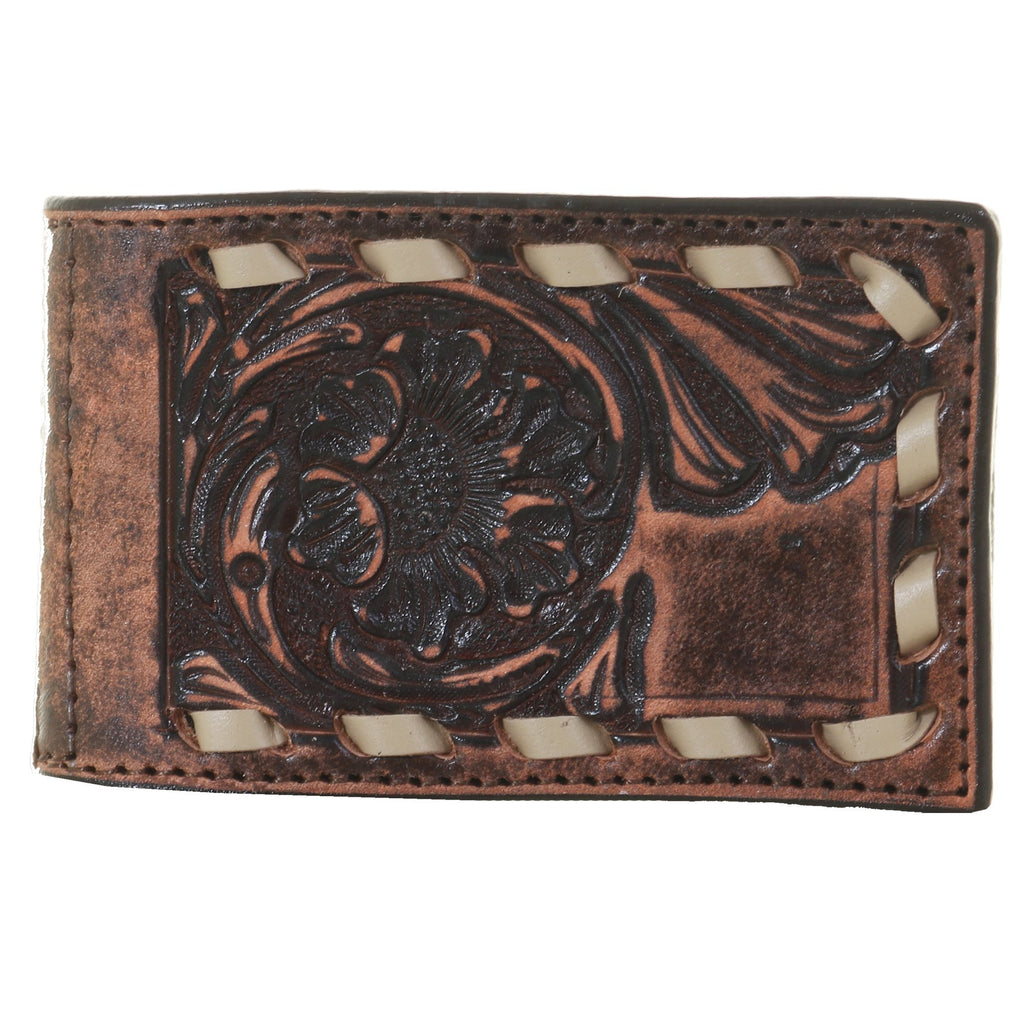 MC81C - Vintage Hand-Tooled Money Clip - Double J Saddlery