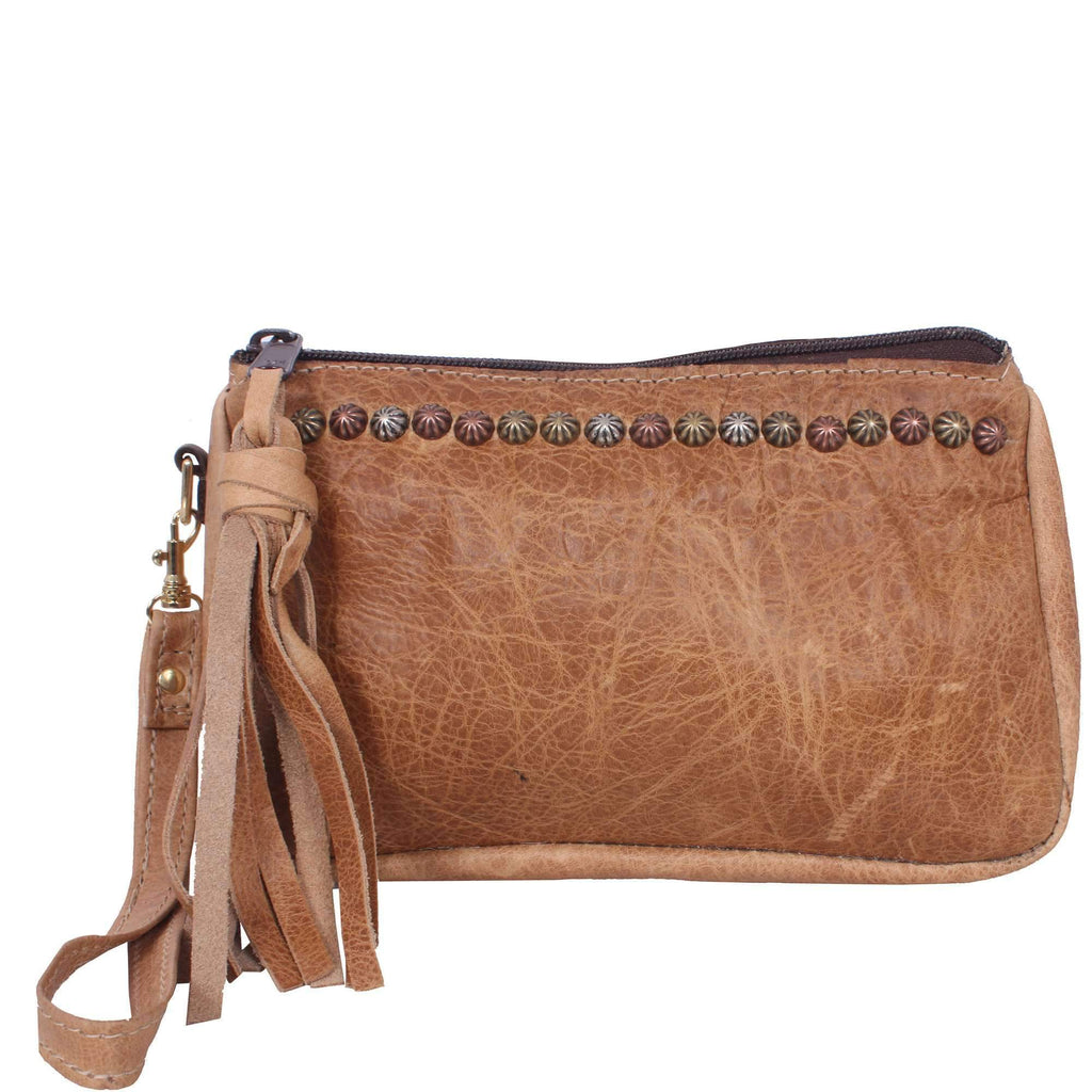MPG56 - Tan Pull-Up Makeup Pouch - Double J Saddlery