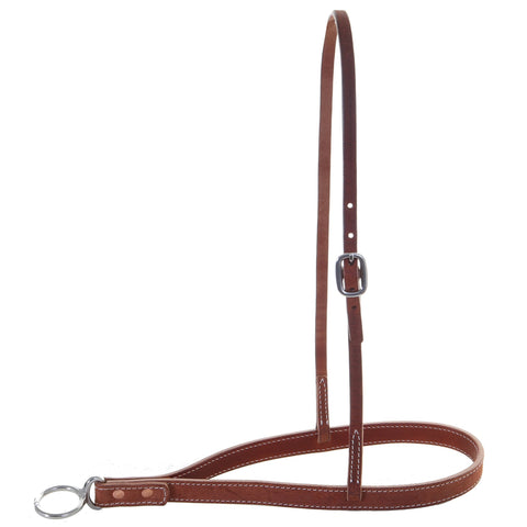 NB02B - Chestnut Rough Out Noseband - Double J Saddlery