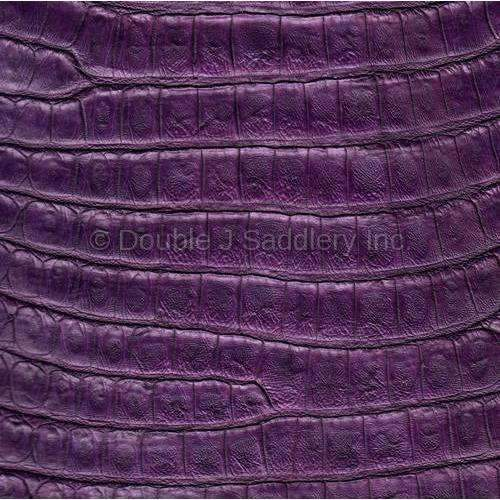 Purple Caiman Gator Leather - SL1149 - Double J Saddlery