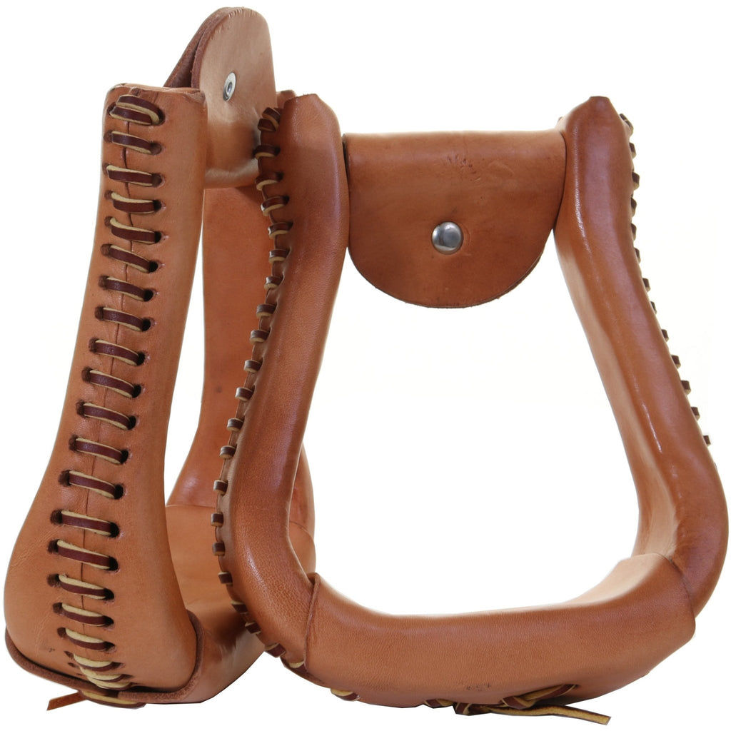 STU78 - Leather Wrapped Stirrup - Double J Saddlery