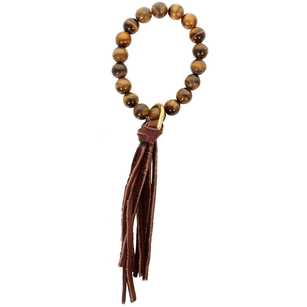 VB04 - Vestige Tiger's Eye Stretch Bracelet - Double J Saddlery