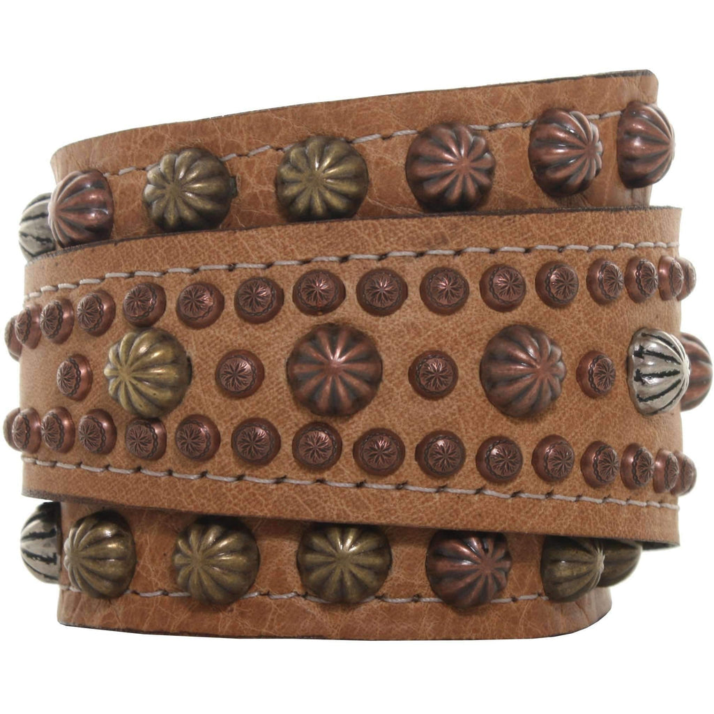 WCUF05 - Camel Pull-Up Wrap Cuff - Double J Saddlery