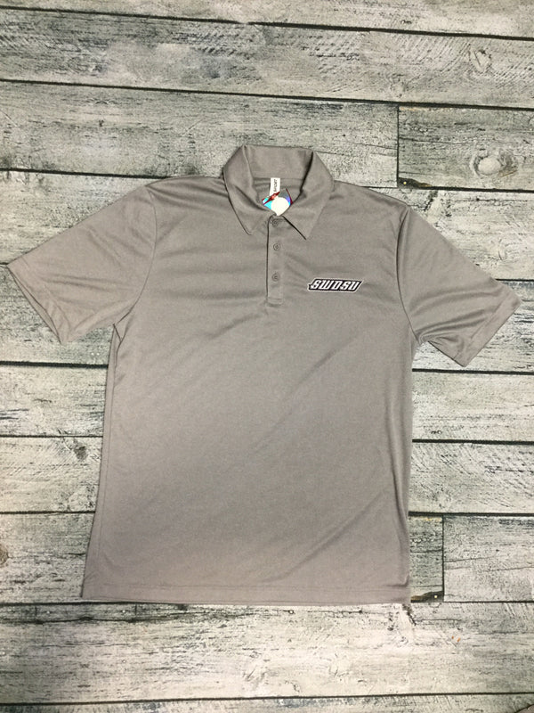 SWOSU Heather Grey Dri-Fit Polo