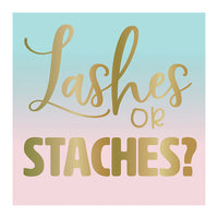 LASHES OR STACHES? Gender Reveal Napkins