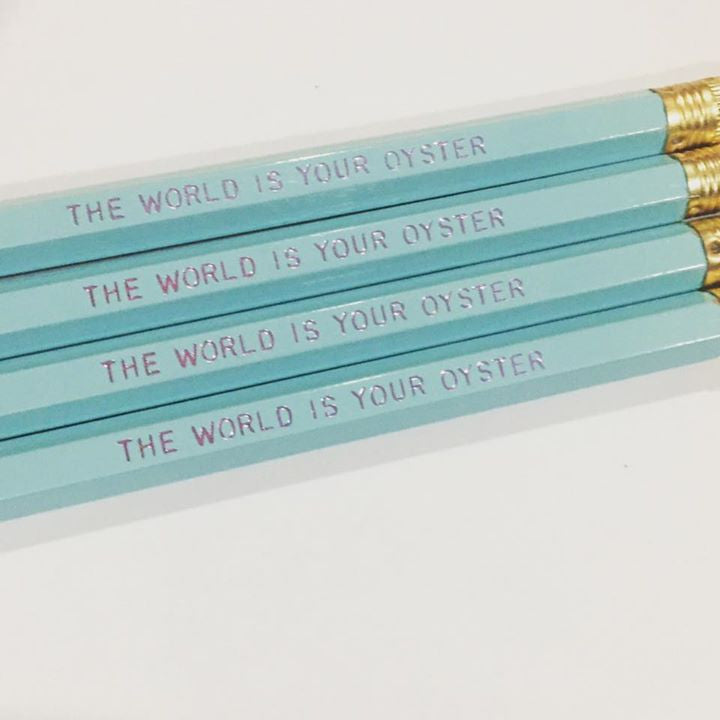The World is Your Oyster-Set of pencils 6 Pencils
