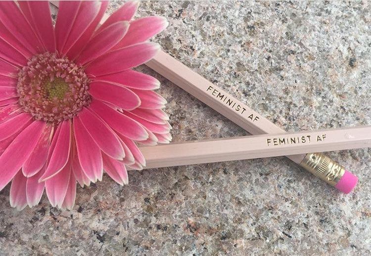 Feminist AF pencil set