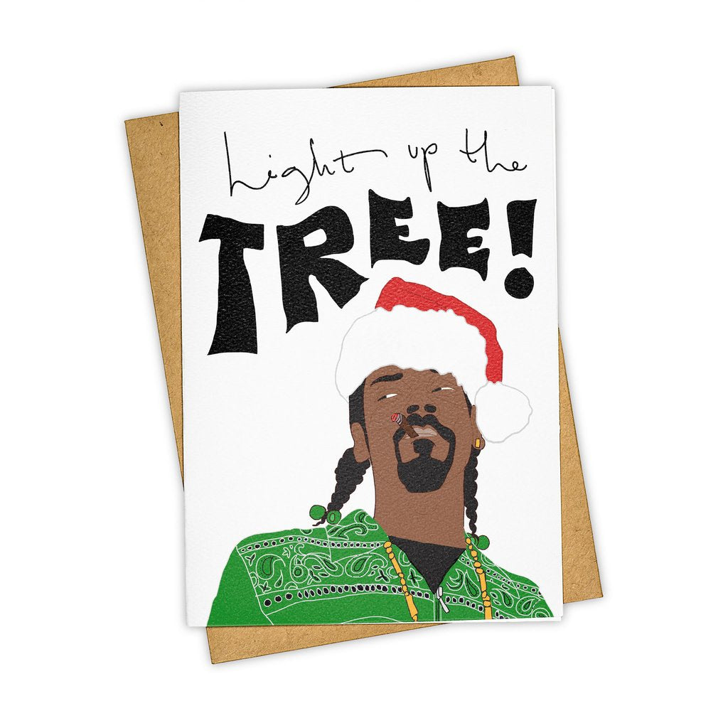 """Light up the tree"" Christmas, Holiday, Stationary Card"