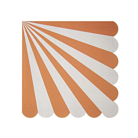 Meri Meri Toot Sweet Orange Stripe Large Napkin