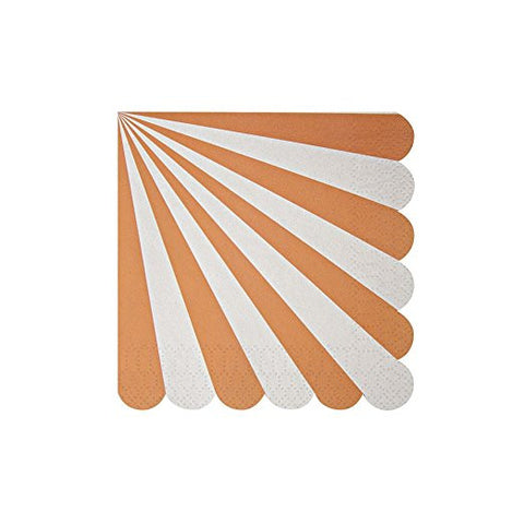 Meri Meri Toot Sweet Orange Stripe Small Napkin