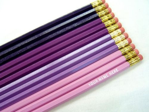 Set of 60 Personalized Pencils