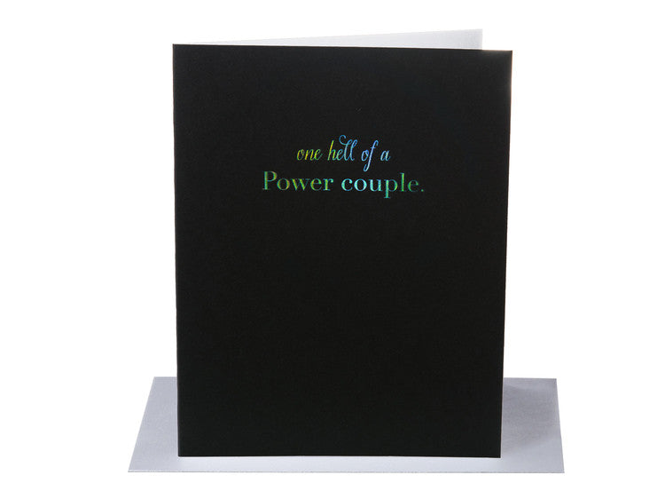 Black & silver wedding card