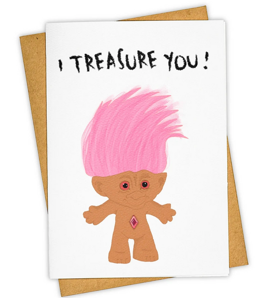 Treasure you stationary card