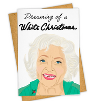 """Dreaming of a White Christmas"" Stationary Card"