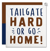 Tailgate Hard or go Home beverage napkin