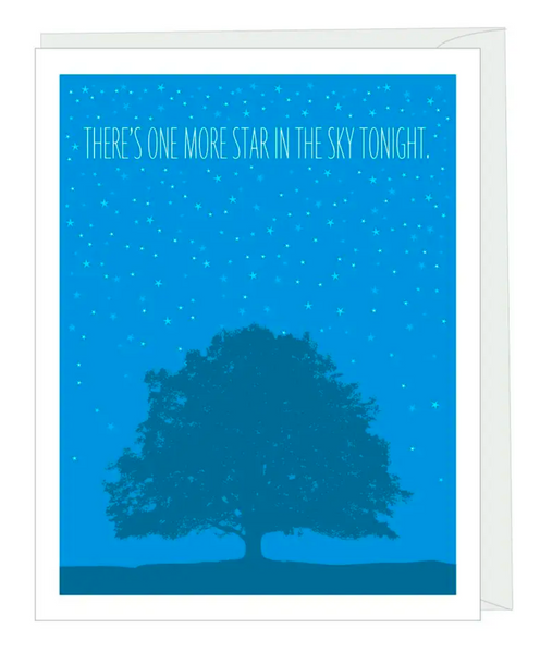"""One More Star"" Sympathy Card"
