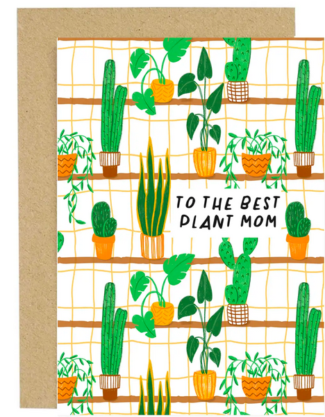 """To the Best Plant Mom"" Greeting Card valley stream"