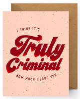 """True Crime Love"" Greeting card valley stream"