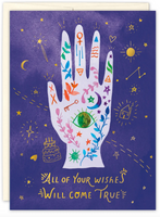 """Happy Birthday"" Mystic Hand Greeting Card"