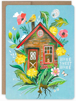 """Home Sweet Home"" Greeting Card valley stream"