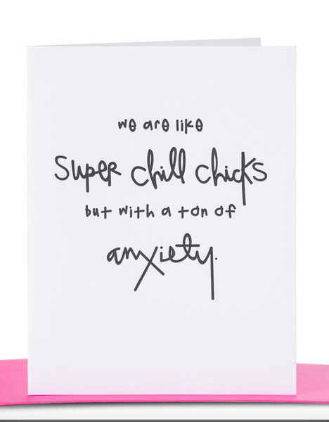 """Super Chill Chicks"" Greeting card"