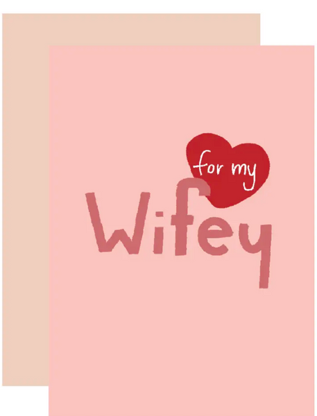 Wifey Greeting Card