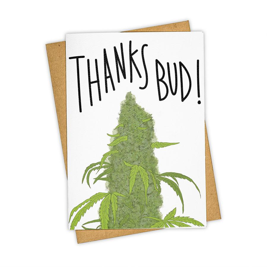 """Thanks Bud"" Stationary Card"