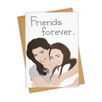 Gilmore girls friends forever card