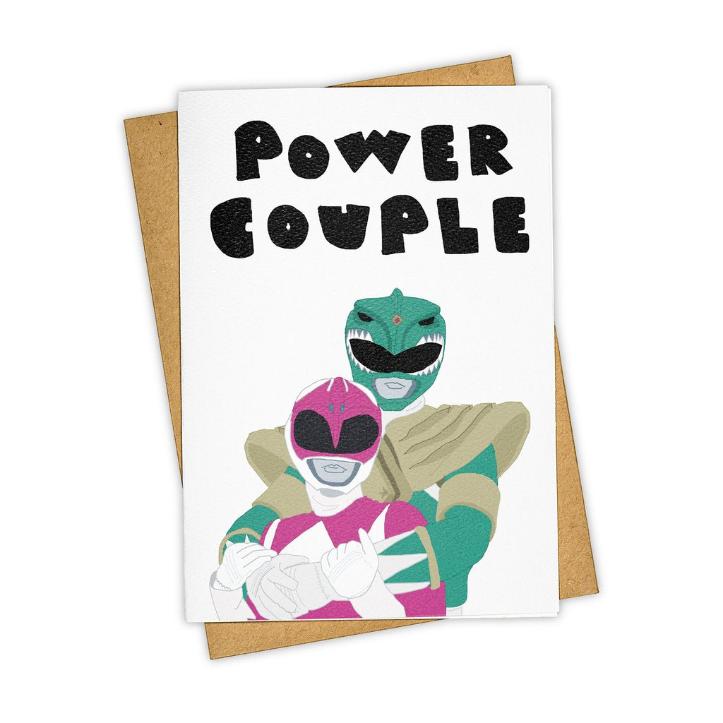 """Power Couple"" Wedding Stationary Card"