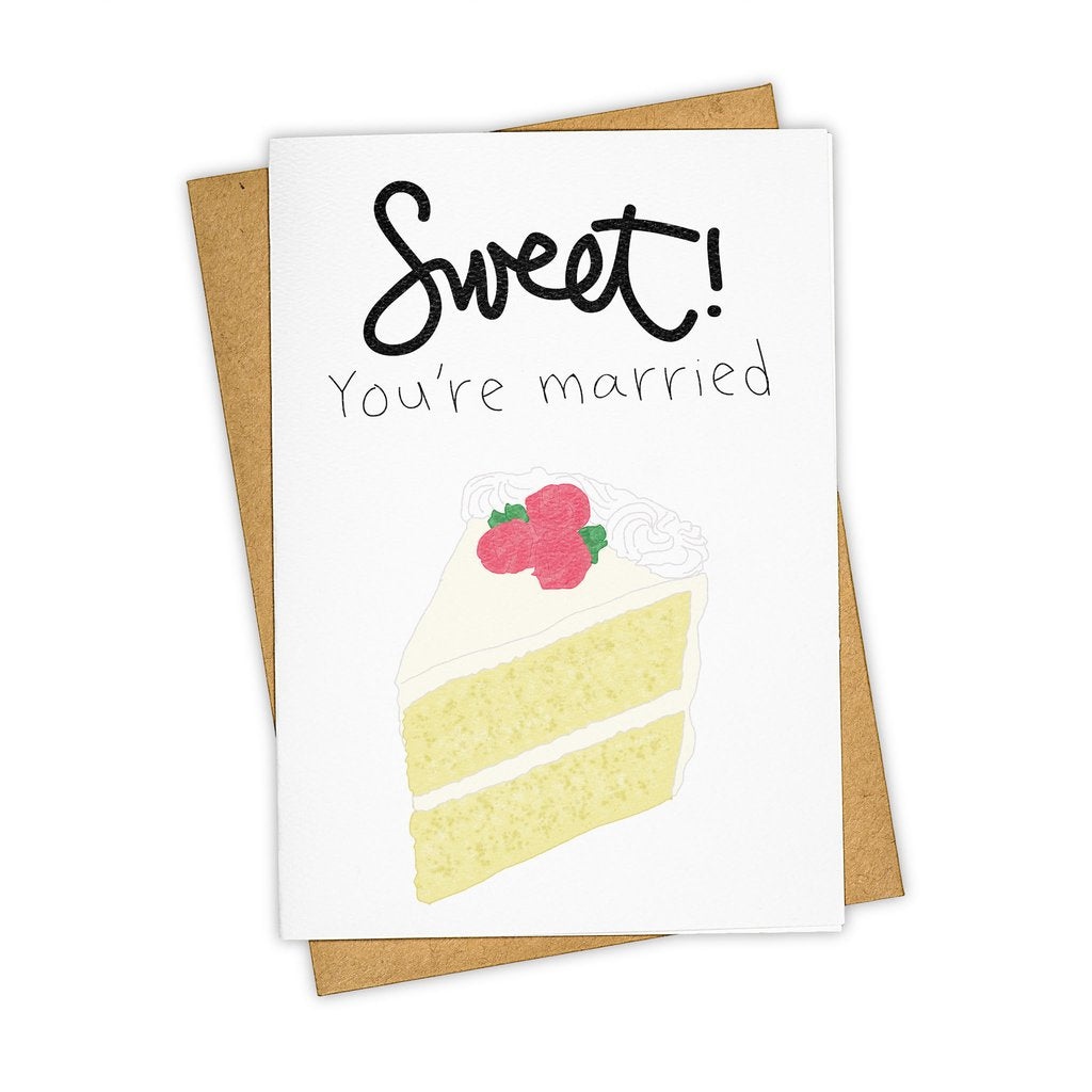"""Sweet"" Wedding Stationary Card"